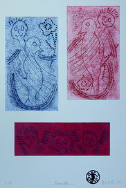 Freude: Tiefdruck auf Bütten, Auflage 5, 45 x 32 cm, 2011