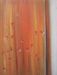 Mohnblumen IV , Mischtechnik auf Leinwand, 60 x 80 cm, 2006