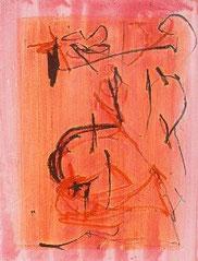 Liebe 1 , Mischtechnik auf Holz, 70 x 100 cm, 2007