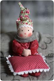 кукла из ткани из серии первая кукла для ребенка из натуральных материалов