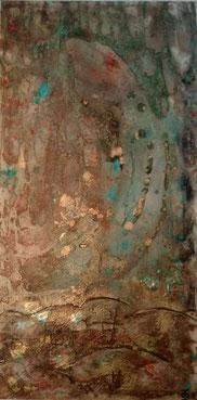 Muddy Waters 2018 (Acryl Mischtechnik, Strukturpaste, Spachtelmasse, Pigmente, Sand) 50x100x4,5....nicht mehr verfügbar