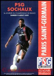 Programme  PSG-Sochaux  2001-02