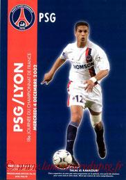 Programme  PSG-Lyon  2002-03