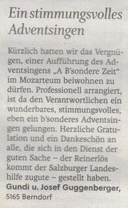 Salzburger Nachrichten 17.12.2015