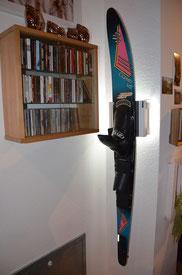 Wandhalterung Wandmontage Wasserski Halterung wall mount LED Beleuchtung beleuchtet