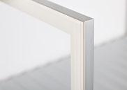 Profil: 923062.61 Silber  Glas: Float Opti. PP Magnolie