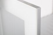 Profil: 923128.61 Silber Glas: Sat. Opti. PP Weiß