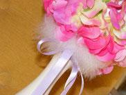 BO060 - Dettaglio fiori e piume marabou