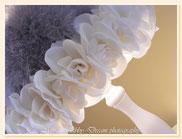 LG031 - Dettaglio rose e piuma di marabou