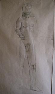 Nude study, live-size, 2012