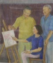 絵画教室風景  パステル8号