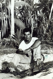 Earl Shaffer during World War II in the Pacific. Photographer unknown.