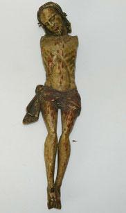 Früher Barock Jesus, Fichte, Süddeutsch, 3-Nagel-Typus, 42,0 cm, € 650,00