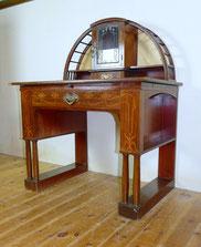 Wiener Secession,Jugendstil,Schreibtisch,Mahagoni Intarsien Messingapplikation , € 2000,00