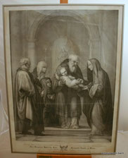 Fra Bartolomeo,Alter Stich nach ,Maria,Jesus,Markgräfin Leopold,Steindruck, € 450,00