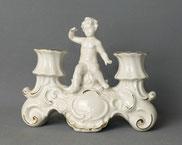 Wallendorf Porzellanfabrik, Kerzenleuchter, 2-Flammig, Putto, Goldverzierungen , € 65,00