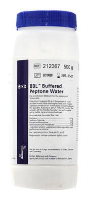 212367 BD Difco™ Agua Peptonada Buffered, 500 g