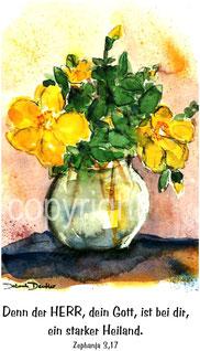 gelbe Blumen in Vase