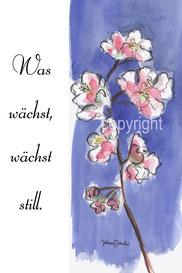 Blüte mit Vers