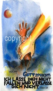 Hand hält Ertrinkenden