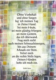 Gedicht von Edith Stein, Mosaik