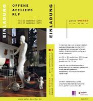 einladung offene ateliers rlp 2015, gestaltung: peter köcher