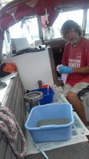 Winschen reinigen - eine unliebsame aber notwendige Angelegenheit