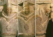 chapiteau de la tribune (~1130) le seigneur, le moine, le paysan