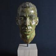 Matthias, Portrait, Gips auf Holz, Alexandra Kapogianni-Beth, www.bildhauerwerke-ak.de
