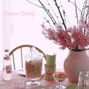 桃色のお花でひなまつり♪