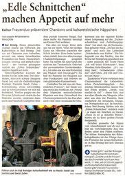 Rheinzeitung, Kulturbahnhof Bad Breisig 2011