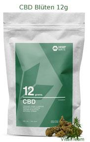 CBD Blüten 12 g  HempMate jetzt online Bestellen bei HempMate Vital Team Vertriebspartner