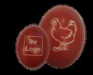 Gravierte Eier mit Ihrem Logo