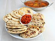 Sri Lankan Coconut Roti with Chilli Paste
