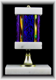 "Single Wide Column Trophy with Riser, 3"" Base"
