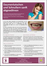 Daumenlutschen und Schnullern: Information für Eltern