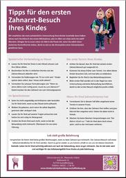 Tipps für den ersten Besuch beim Kinderzahnarzt