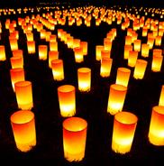 Die Zahl hundertundacht, viele Lichter bei Nacht