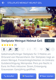 Stellplatz Promobil-App