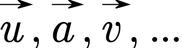 Kennzeichnung von Vektoren