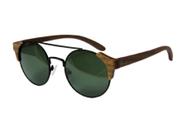 Holzsonnenbrille mit Metallrahmen