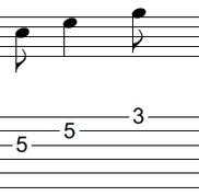 ギターアドリブ入門講座(初心者) 2拍パターン6-2