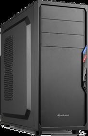 Normales Büro- und Heim PC Gehäuse von Sharkoon in schwarzer Farbe