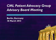 lmc france berlin cml patient advocacy group advisory boord meeting novartis