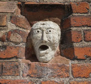 Mask in the wall of St. John's Church, Old Riga.