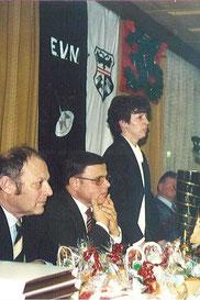 Landeshauptmann Durnwalder, Bürgermeister Passler und Präsidentin Steinwandter Rosanna beim 35. Jubiläum des EVN