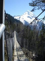 Hängebrücke über den Schipfenbach