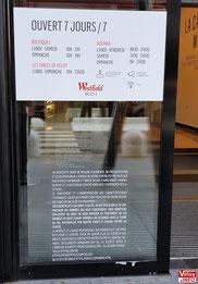 Information sur le dispositif à une porte d'entrée de Westfield Vélizy 2.