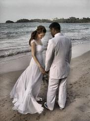 Freie Zeremonie am Strand