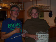 Die Siegerin Sandra mit Günter